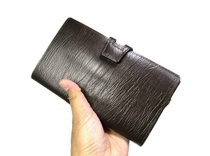Jual Dompet Kulit Wanita panjang kartu asli sapi premium serat Kayu ... 4cb8d01dfa