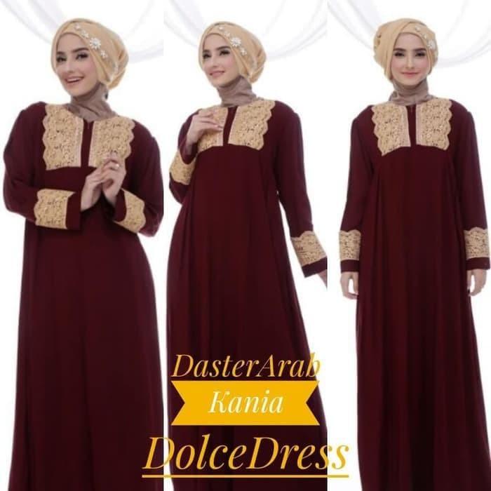 Maxi Dress Arab/India/Dubai/Turki Dolce Kania Daster Lebaran Busui
