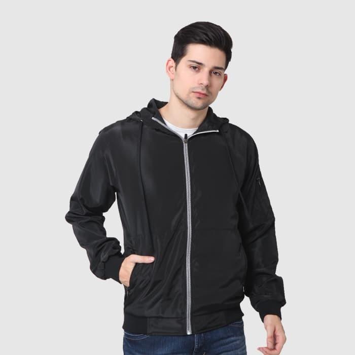 harga Cressida nextlevel casual hoodie jacket parachute pria g341 - hitam - hitam m Tokopedia.com