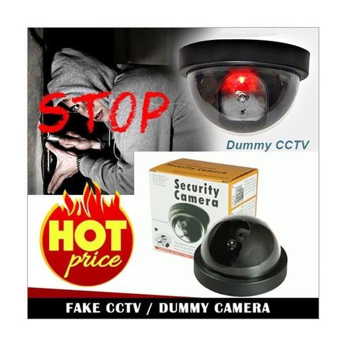 Dummy Cctv Palsu / Fake Cctv / Replika + Infrared - Hitam