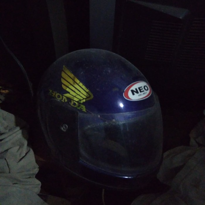 Helm anak Retro Lucu motif Robot 1-5 thn - Biru/Merah. Source