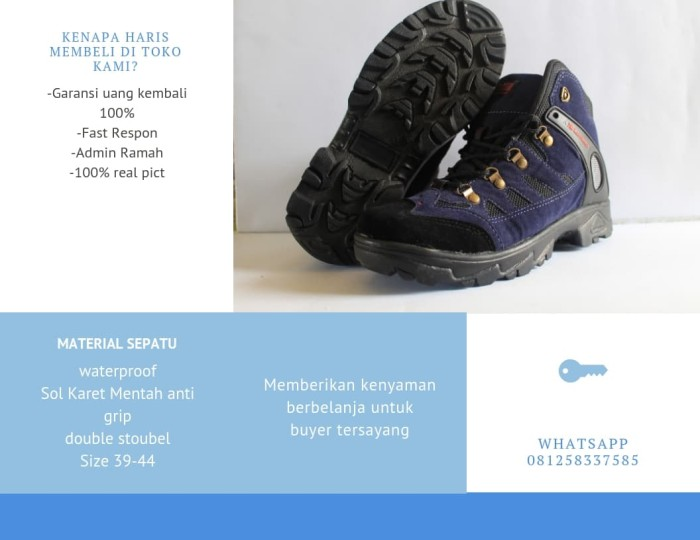 Jual sepatu Gunung SNTA KARRIMOR Trekking hiking Outdoor Pria Wanita ... 2681afaa5c