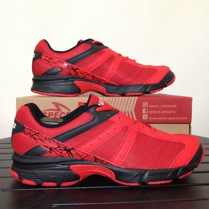 Sepatu Running Lari Specs Original Vinson Massif Vision Merah Hitam