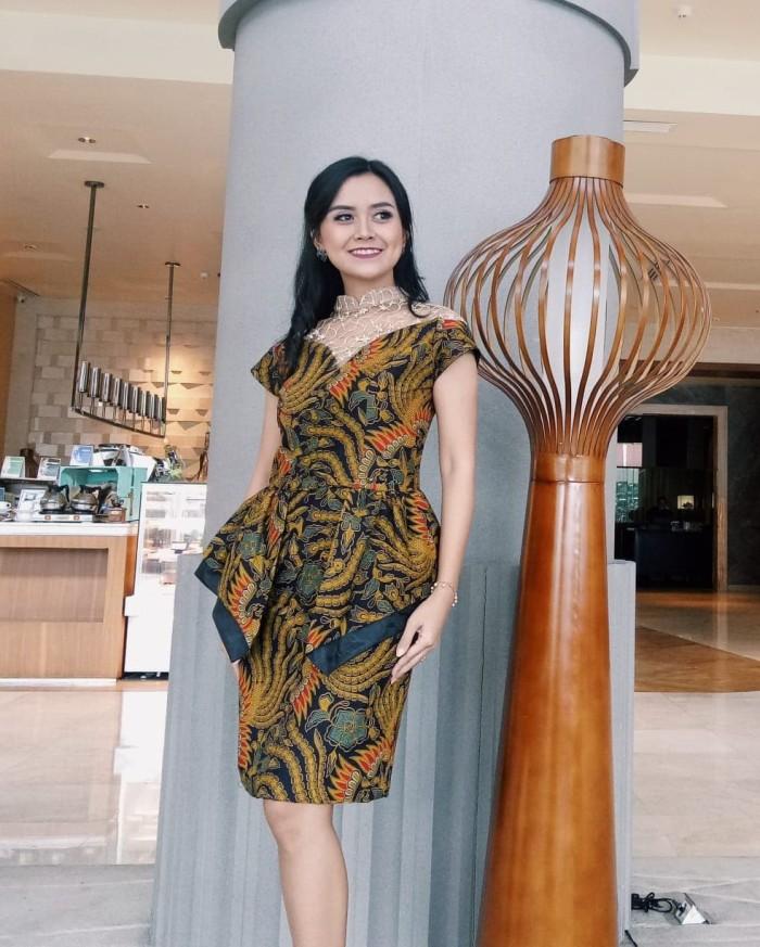 Jual Mini Dress Batik Katun Printing Sawung Galing Baju Pesta Batik