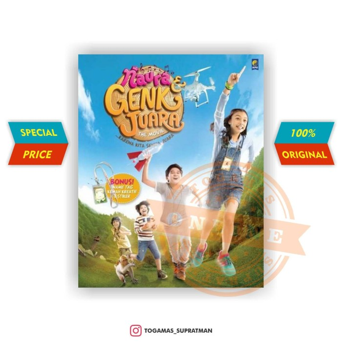 harga Naura & genk juara (the movie) + name tag - nurlita maharani Tokopedia.com