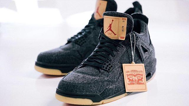 f6c9cb32d721 Jual Sepatu Basket - Nike Air Jordan 4 Retro Levis Black - PRM ...