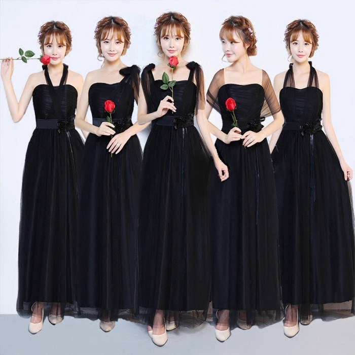 Jual Gaun Maxi Wanita Dengan Warna Hitam Dan Bergaya Formal Untuk