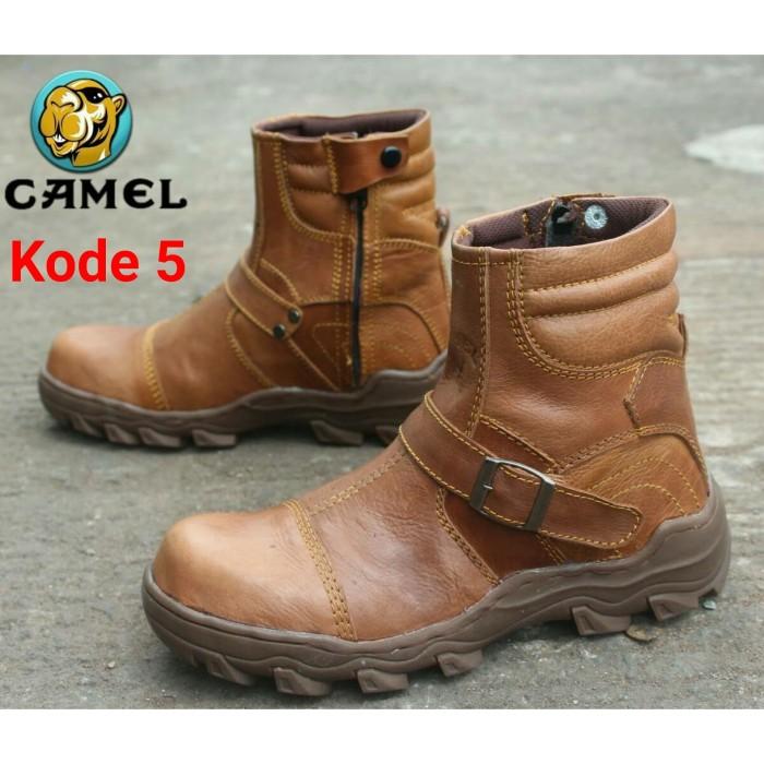 Sepatu Boots Pria Camel Zipper Safety Proyek Lapangan Bahan Kulit Sapi 3f0a13ba0b