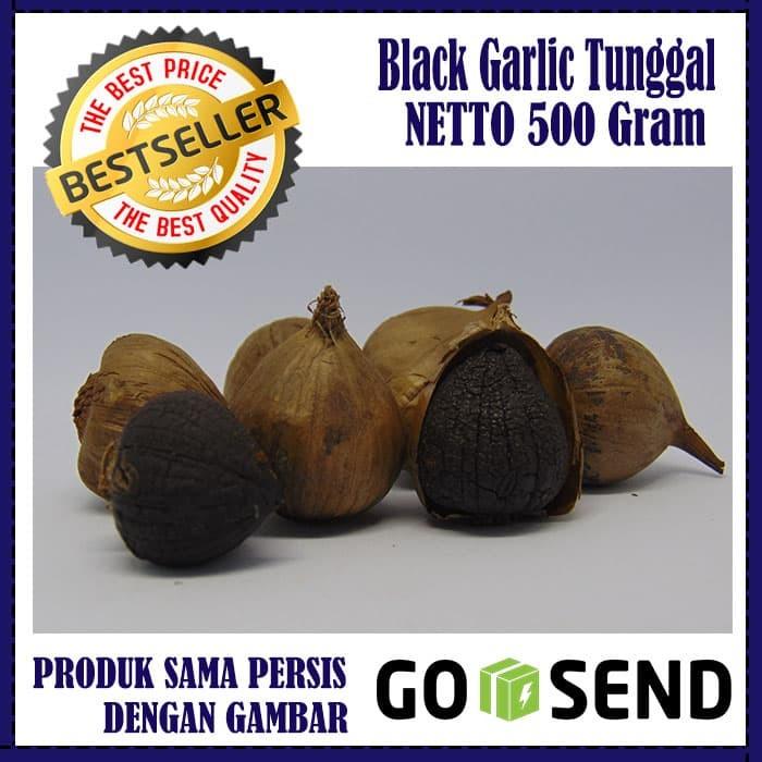 BLACK GARLIC TUNGGAL 500 GRAM BAWANG PUTIH HITAM TUNGGAL LANANG .