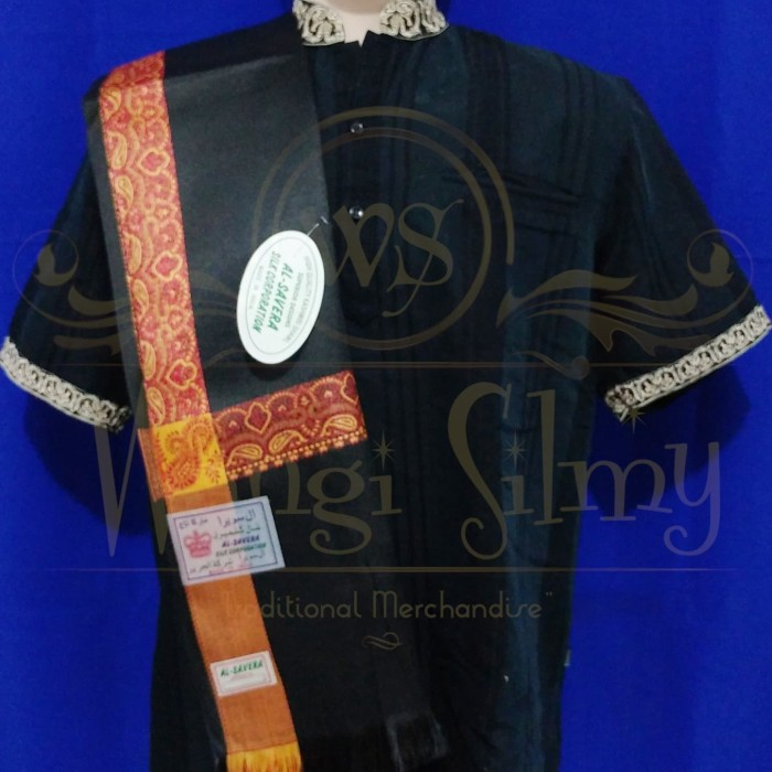 harga Sorban kashmiri asli india hitam garis putih - sorban hitam - semagh Tokopedia.com