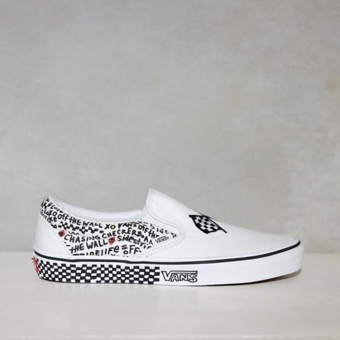 Jual Vans Slip On DIY Black/True White