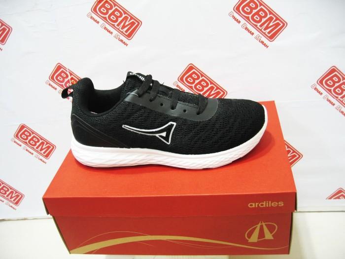 Ardiles kintamani - sepatu wanita santai kerja running - hitam putih dfe06bf4a5