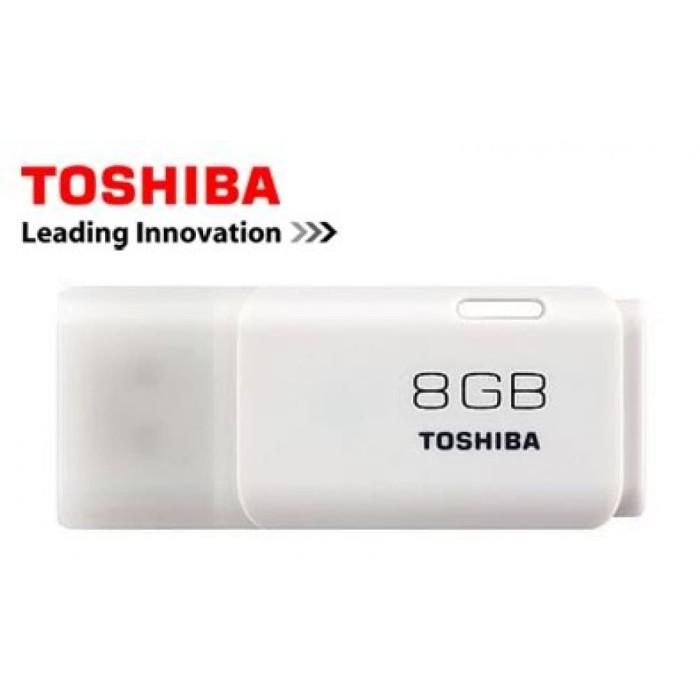 FLASHDISK TOSHIBA 8GB HAYABUSA FD TRANSMEMORY 100% ORIGINAL - Putih