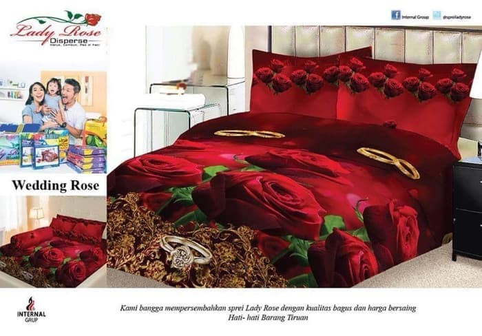 Katalog Bed Cover Lady Rose 180x200 Katalog.or.id