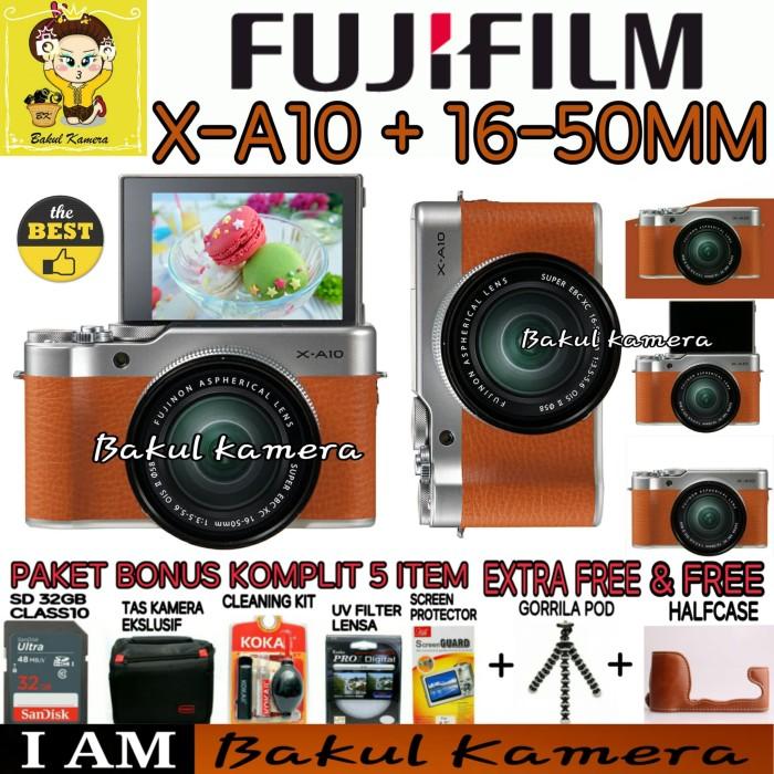 harga Fujifilm x-a10 xa10 kit 16-50mm paket mewah Tokopedia.com