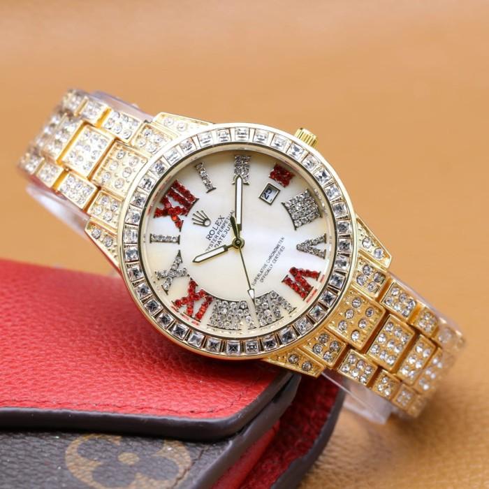 Rolex Jam Tangan Wanita Analog Crystal - Watch Analog Rolex 3