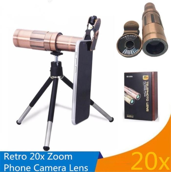 harga Pickogen lensa tele zoom 20x plus clip jepit & mini tripod Tokopedia.com