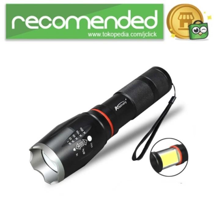 harga Senter led torch multifungsi cree xm-l t6 cob 8000 lumens - hitam Tokopedia