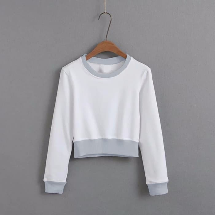 Jual Della Crop T Shirt Long Sleeve Sweater Tee High Waist Top Hitam Kab. Bekasi fourpay | Tokopedia