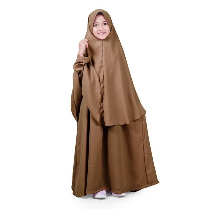 Foto Produk Bajuyuli - Baju Muslim Anak Perempuan Gamis Syar'i Polos Milo WSML01 - L dari Bajuyuli