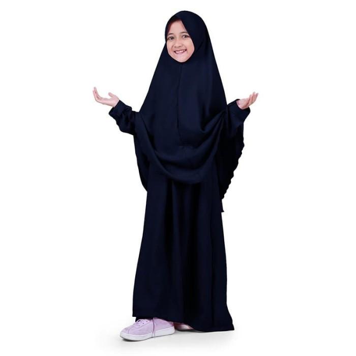 Foto Produk Bajuyuli - Baju Muslim Anak Perempuan Gamis Syar'i Polos Navy WSNV01 dari Bajuyuli