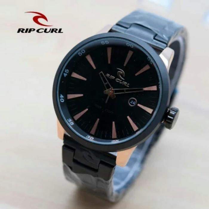 harga Jam tangan pria ripcul date on stainlist black rose gold dsb Tokopedia.com