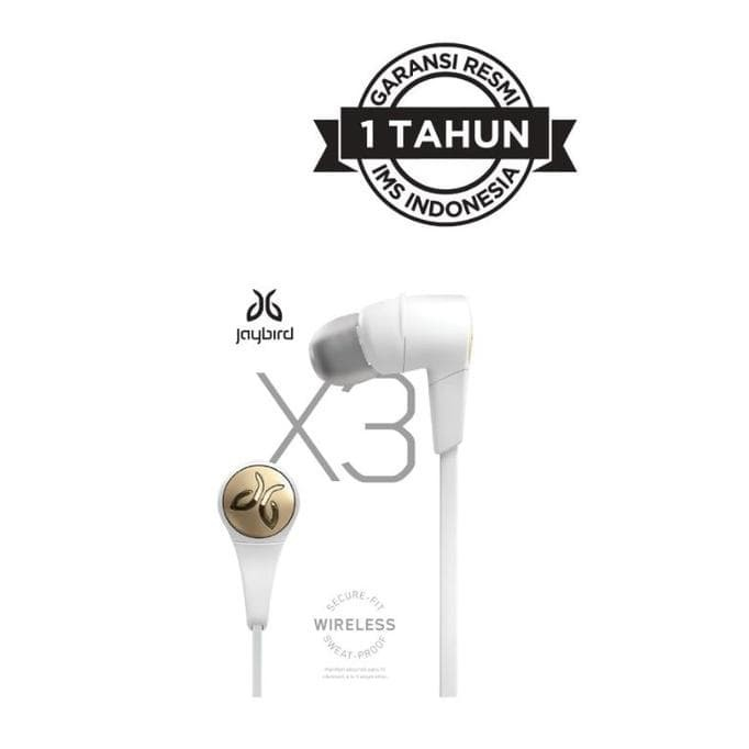 harga Headset jaybird x3 in ear sports bluetooth headphone - sparta white Tokopedia.com