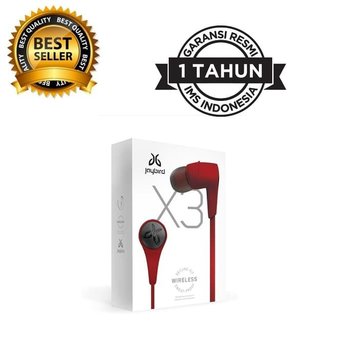harga Jaybird x3 in ear sports bluetooth headphone - roadrash red Tokopedia.com