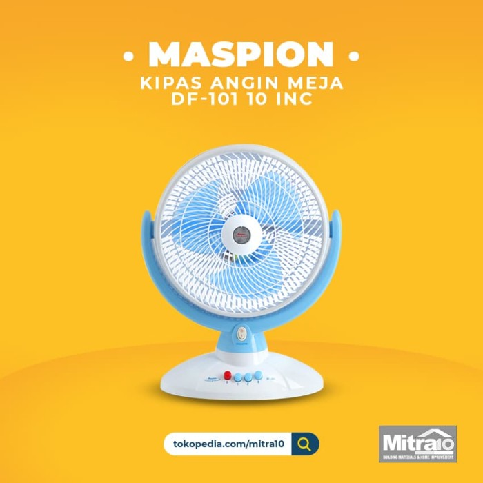 harga Maspion df-101 10 inc desk fan / kipas angin meja Tokopedia.com