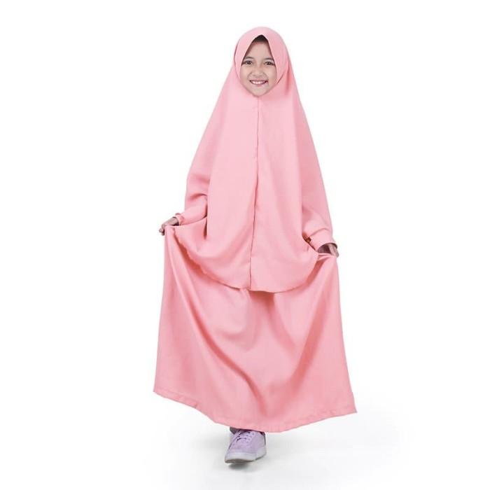 Foto Produk Bajuyuli - Baju Muslim Anak Perempuan Gamis Syar'i Polos Salem WSS01 - XS dari Grone