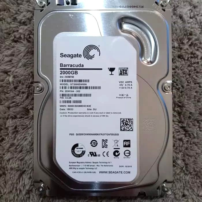 harga Hdd / harddisk seagate internal pc 2tb - hdd sata 3.5 Tokopedia.com