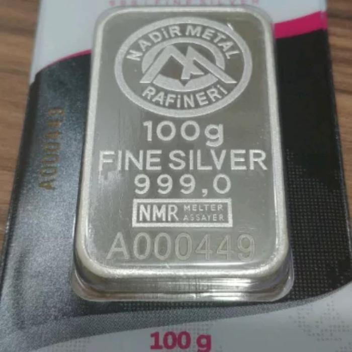 harga Perak batangan nadir 100 gram 999 Tokopedia.com
