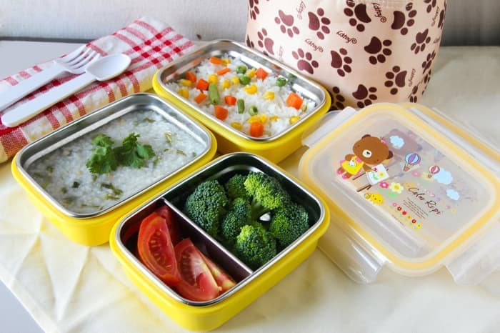 Foto Produk Gig Lunch Box baby Rectangle Kotak bulat stainless steel termos makan dari putrarinoputrarino
