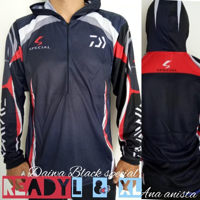 harga Kaos jersey mancing mania daiwa special black Tokopedia.com