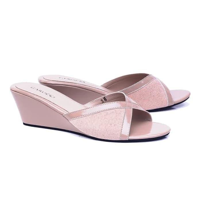 Sandal Wanita Pesta Cantik GC-104 CREAM Sandal Wedges Murah Modis Gaya 700d2533d5