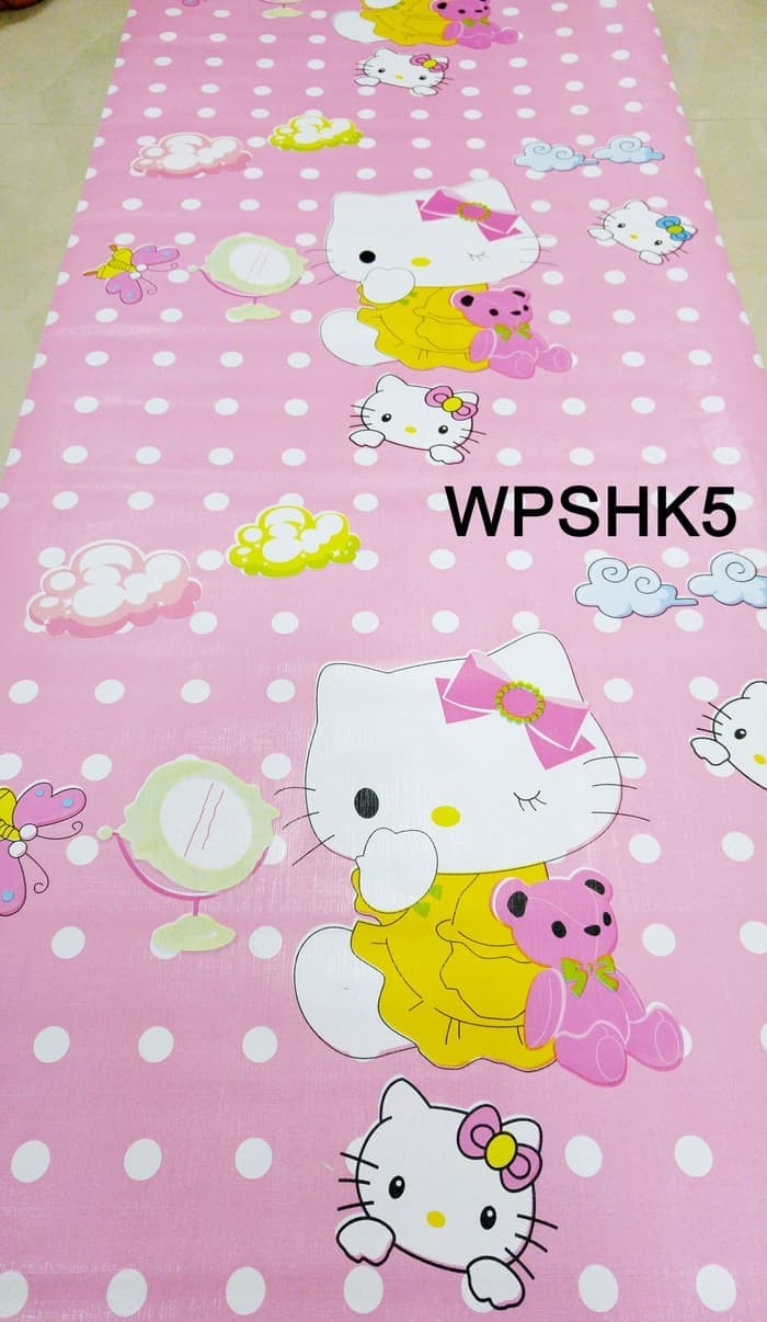 Wallpaper sticker karakter hello kitty wallsticker walpaper stiker wpshk5