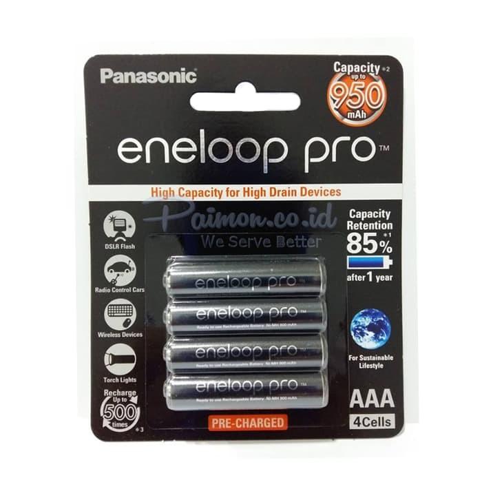Foto Produk Eneloop Pro Baterai A3 1000 mah bp4 hitam panasonic dari RedSkyonline