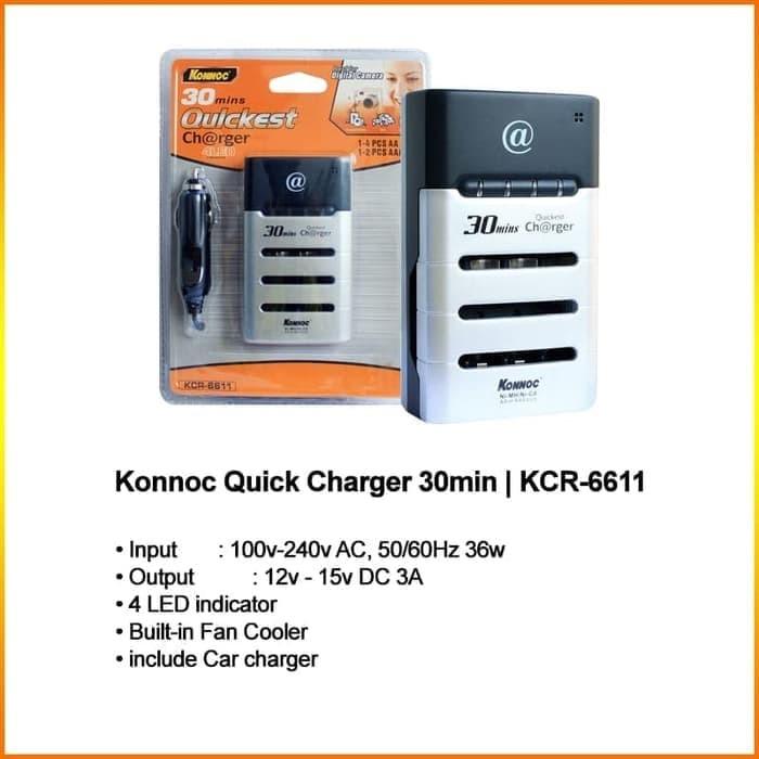 Foto Produk Konnoc Quick Charger 30 Minet KCR-6611 dari RedSkyonline