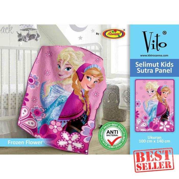 Selimut Vito Kids Sutra Panel 100x140 Frozen Flower