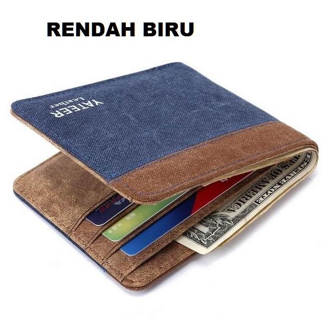 Dompet Kulit Impor Yateer Bifold Pria Mens Kanvas Wallet Cowo Cewe ... 59f373339f