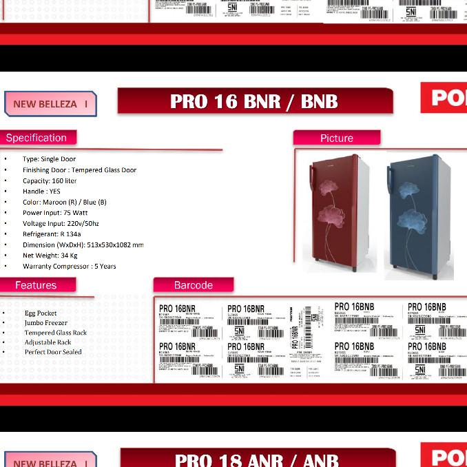 Info Kulkas Polytron Belleza 1 Pintu Travelbon.com