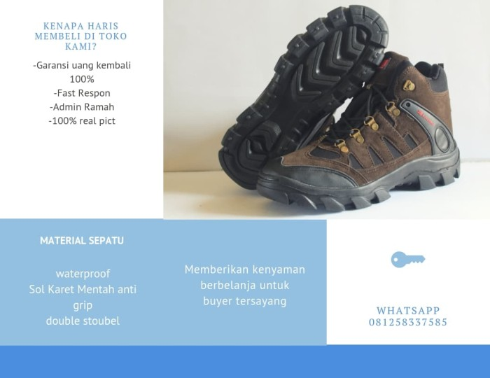 sepatu Gunung SNTA KARRIMOR Trekking hiking Outdoor Pria Wanita Coklat -  Cokelat c61d5c2ced