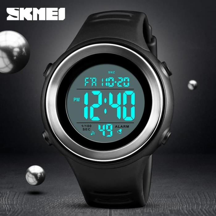 Jam tangan pria sport original skmei 1394 digital anti air 50m - white