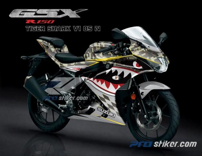 Jual Stiker Motor Suzuki Gsx R150 Gambar Shark V1 Hiu Full Body