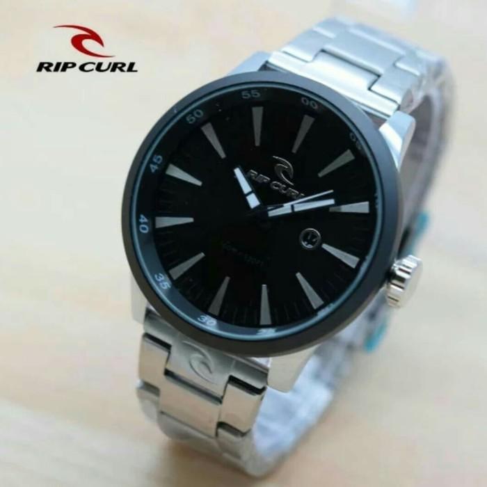 harga Jam tangan pria ripcul date on stainlist black silver Tokopedia.com
