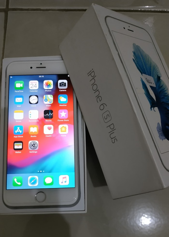 Jual iPhone 6S Plus 64 Gb Silver   Second   - Mulus dan Fullset ... d0d8a1d6f7