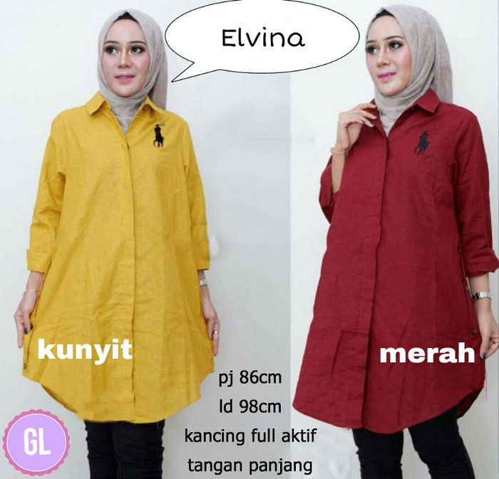 Atasan Wanita Muslim - Baju Tunik Murah Elvina Tunic - Dzikri ... 27f4a205fc