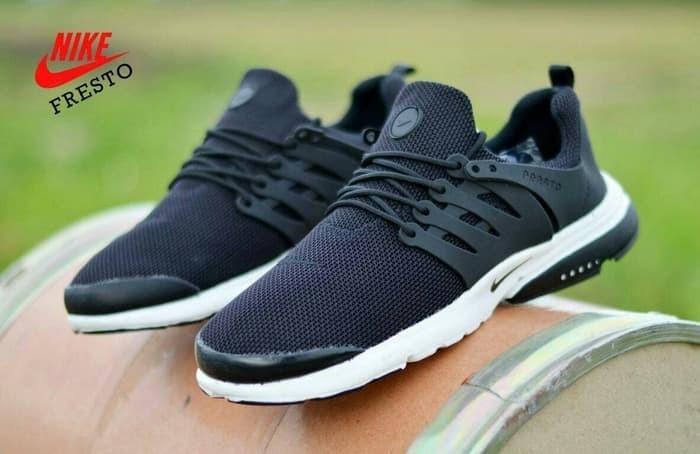 Jual Free Bonus !!! Sepatu Jogging Murah Pria Nike Presto Black Sol ... 9501319851