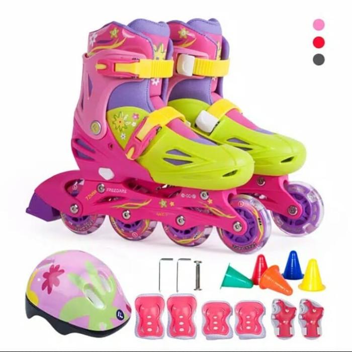Jual sepatu roda bajaj anak power superb murah fullset sepatu inline ... ac39ac1762