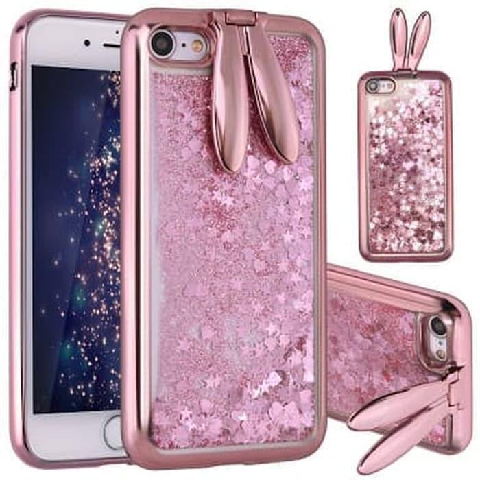 Iphone 6 Plus Glitter Rabbit Liquid Cute Water Soft Case Cover Casing
